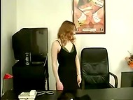 Croatian secretary had solo fun in the office before her long-awaited fucker appeared 6