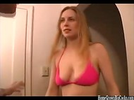 Beauty with trimmed twat and natural boobs fucked before nice got facial cumshot at the casting 5