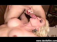 High-quality compilation of cumshots in hard-working sluts' mouths and on the faces 7