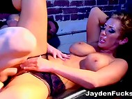 Phenomenal pornstar Jayden Jaymes puts partner's dick in pussy through the tear in the panties 11