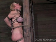 Busty amateur gets tied, humiliated and ass-slapped hard by a rude guy