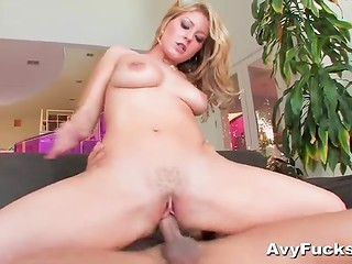 Snazzy blonde with natural tits isn't against being inseminated by handsome Asian boy