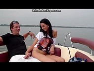 Couple decided to replenish the collection with sex scene recorded on the motorboat 5