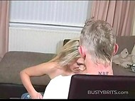 Curvaceous dame from Great Britain stripteases in front of a guy with nerves of steel 10