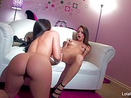 Teenage lesbian cutie meets the right girl to fulfill each of their sexual desires 4