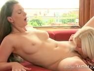 Отличная нарезка чувственных сцен лесбийского секса с участием мастеровитых дамочек 7