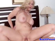 Cool porn actor Johnny Sins pounds actively a voluptuous blonde MILF in various poses 11