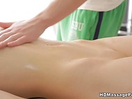 Enticing colleen couldn't resist the Russian masseur's tender touches and gave him tight pussy 5