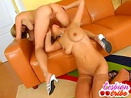 Young lesbian doll pleases her naughty girlfriend with wet tongue and nimble fingers 11