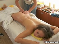 Russian guy slowly turned massage session into the sexual act with hot client to the sound of music 4