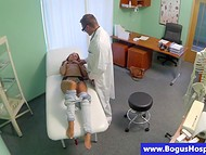 Teenage goddess undergoes a course of intense oral treatment by experienced doctor 4