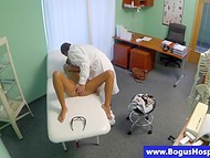 Teenage goddess undergoes a course of intense oral treatment by experienced doctor 9