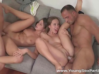 Two Russian couples are fond of hot fucking and wanted to try something extraordinary
