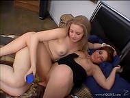 Fatty lesbian girlfriends don't skimp on foreplay and caress each other's pussy with a dildo