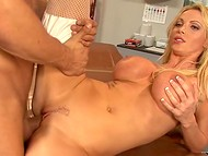 Filming of the porn movies starring busty blonde pornstar in the backstage video 7
