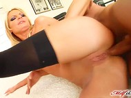 Blonde-haired MILF couldn't leave her butthole without a rubber friend or strong phallus 10