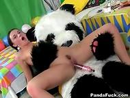 Панда поздравляет прелестную русскую хозяйку с днём рождения по полной программе 7