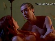 Talented actress Lucy Lawless amazingly played in erotic scenes of the Spartacus movie 6