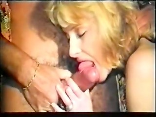 Perfect lover shoves his pecker in hairy twat of his colleen and makes her moan of pleasure