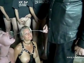 Group of men fucked and humiliated two helpless Danish females in the dirtiest way