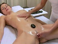 Dazzling masseuse took advantage of various techniques to pleasure client 7