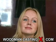 Young Estonian babe with beautiful slim body passes the interview in the old Woodman casting scene 4