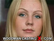 Young Estonian babe with beautiful slim body passes the interview in the old Woodman casting scene 5