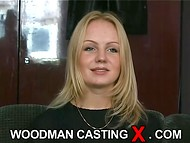 Young Estonian babe with beautiful slim body passes the interview in the old Woodman casting scene 6