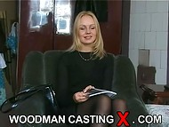 Young Estonian babe with beautiful slim body passes the interview in the old Woodman casting scene 7