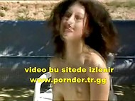 Guy fucked dark-haired girl on a chaise-longue taking advantage of a nice weather 8
