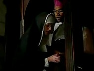 Nun succumbed to temptation and sinned with black padre in the sacred temple 5
