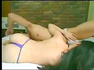Young Chinese couple moans passionately making sweet love in the bedroom 5