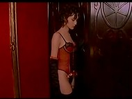 Beautiful showgirl in stockings has to fuck powerful cabaret visitor to save her job 10