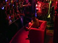 Unforgettable performance on stage by sexy Slovenian coquette in the club full of excited visitors 4