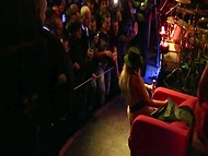 Unforgettable performance on stage by sexy Slovenian coquette in the club full of excited visitors 9