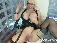 Colleague helped unique Norwegian lady Monica Milf to satisfy her sexual hunger at the workplace