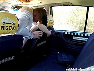 Czech taxi becomes a great fuckfield for pale-skinned amateur redhead chick 10