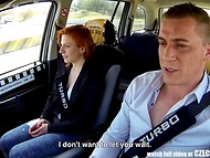 Czech taxi becomes a great fuckfield for pale-skinned amateur redhead chick 5