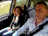 Czech taxi becomes a great fuckfield for pale-skinned amateur redhead chick 7