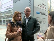 Czech couple was met in the street and invited to have some fun with another one 4