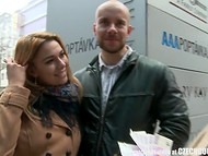 Czech couple was met in the street and invited to have some fun with another one 5