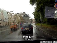 Amateur female passenger got a nice chance to be fucked by Czech Taxi driver on a spring day 10