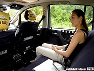Amateur female passenger got a nice chance to be fucked by Czech Taxi driver on a spring day 4