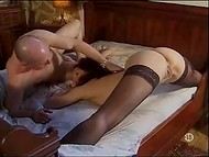 Old man caresses make Jeux Vicieux Chez delighted and she repays with blowjob to his young stepson 4