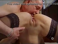 Old man caresses make Jeux Vicieux Chez delighted and she repays with blowjob to his young stepson 5