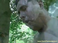 Nature walk with Dutch busty traveler turned into sexual action among the bushes 11