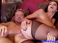 Arresting Ava Addams plays with girlfriend and soon after gets her wazoo pumped