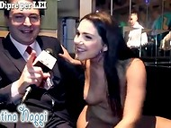 Absolutely naked Shameless Valentina Nappi is happy to answer all the reporter's questions 4