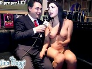 Absolutely naked Shameless Valentina Nappi is happy to answer all the reporter's questions 5