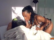 Dark-skinned babe was brought by Dr. Frankenstein to take care of the recently resurrected male 3